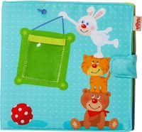 "Haba Baby Photo Album ""Playmates"" -  * Surprise your little sunshine with a very personal gift! The cute baby photo album ""Playmates"" by Haba is perfect for keeping photographs of your child and your family."