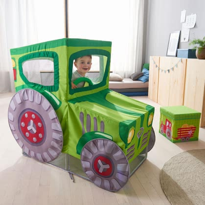 "Haba Play Tent ""Tractor"" -  * Haba's play tent ""Tractor"" will instantly turn your little one into the most passionate tractor driver. This adorable tent will be the centre of attention in your child's nursery and delights everyone with its fascinating playing effect."