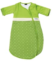 Gesslein Sleeping Bag Bubou, Stars – Green -  * This super cosy sleeping bag accompanies little boys and girls safely through the night. Subtle colours as well as the child-appropriate design turn this sleeping bag into a comfortable companion that guarantees sweet dreams.