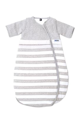 Gesslein Sleeping Bag Bubou, Stripes – Grey -  * This super cosy sleeping bag accompanies little boys and girls safely through the night. Subtle colours turn this sleeping bag into a comfortable companion that guarantees sweet dreams.