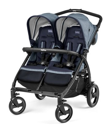 Peg-Perego Double Stroller Book For Two -  * The trendy Book For Two by Peg-Perego is the perfect choice for parents of twins or siblings. Featuring a width of only 74 cm as well as a continuous push bar, this stroller is particularly easy to manoeuvre.