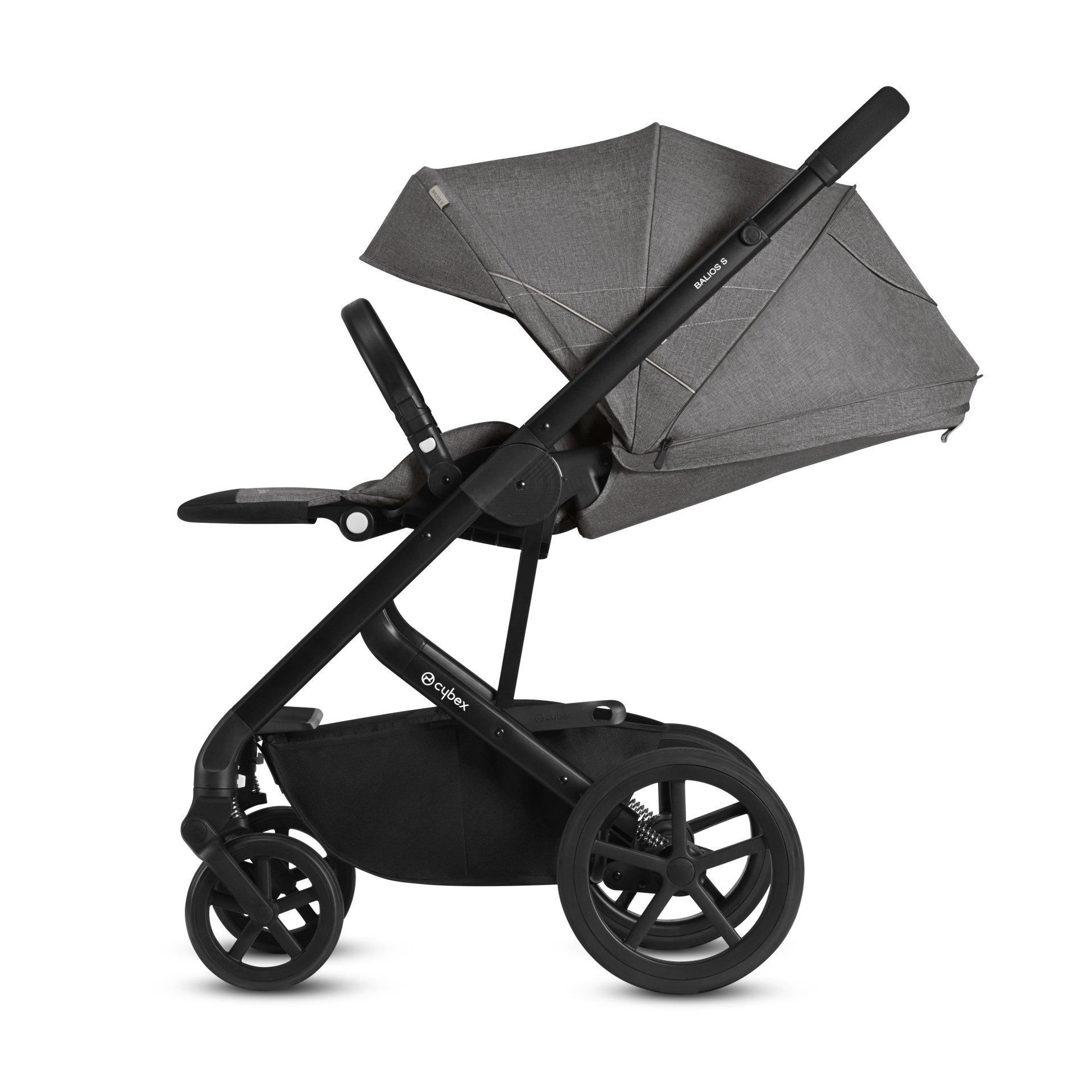 cybex stroller balios s 2018 lavastone black black buy at kidsroom strollers. Black Bedroom Furniture Sets. Home Design Ideas