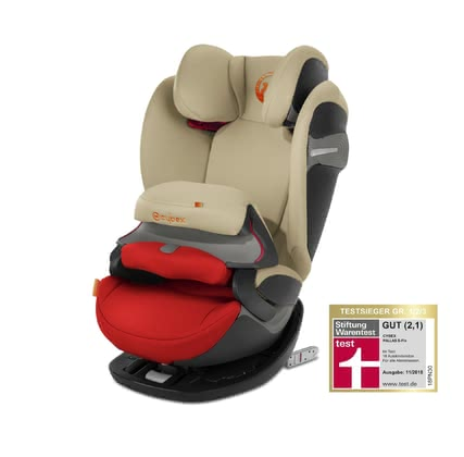 Cybex Child Car Seat Pallas S-Fix Autumn Gold - burnt red 2018 - large image