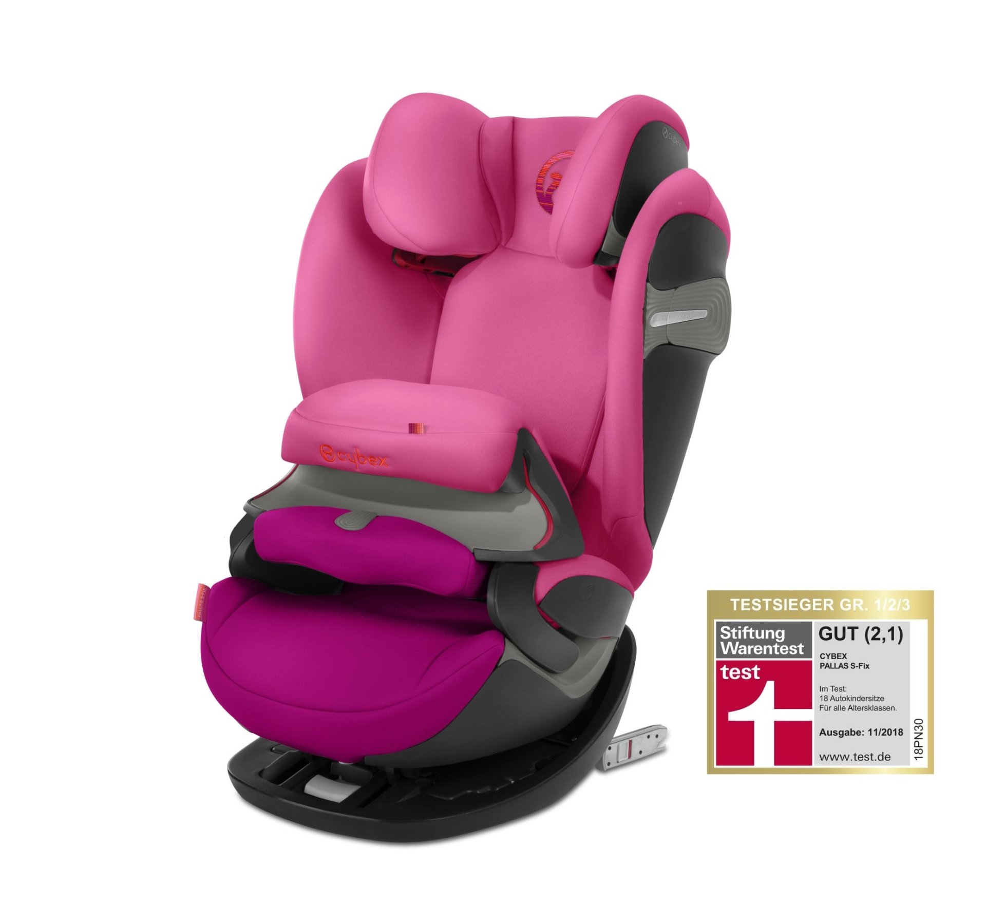 cybex child car seat pallas s fix 2018 passion pink purple buy at kidsroom car seats. Black Bedroom Furniture Sets. Home Design Ideas