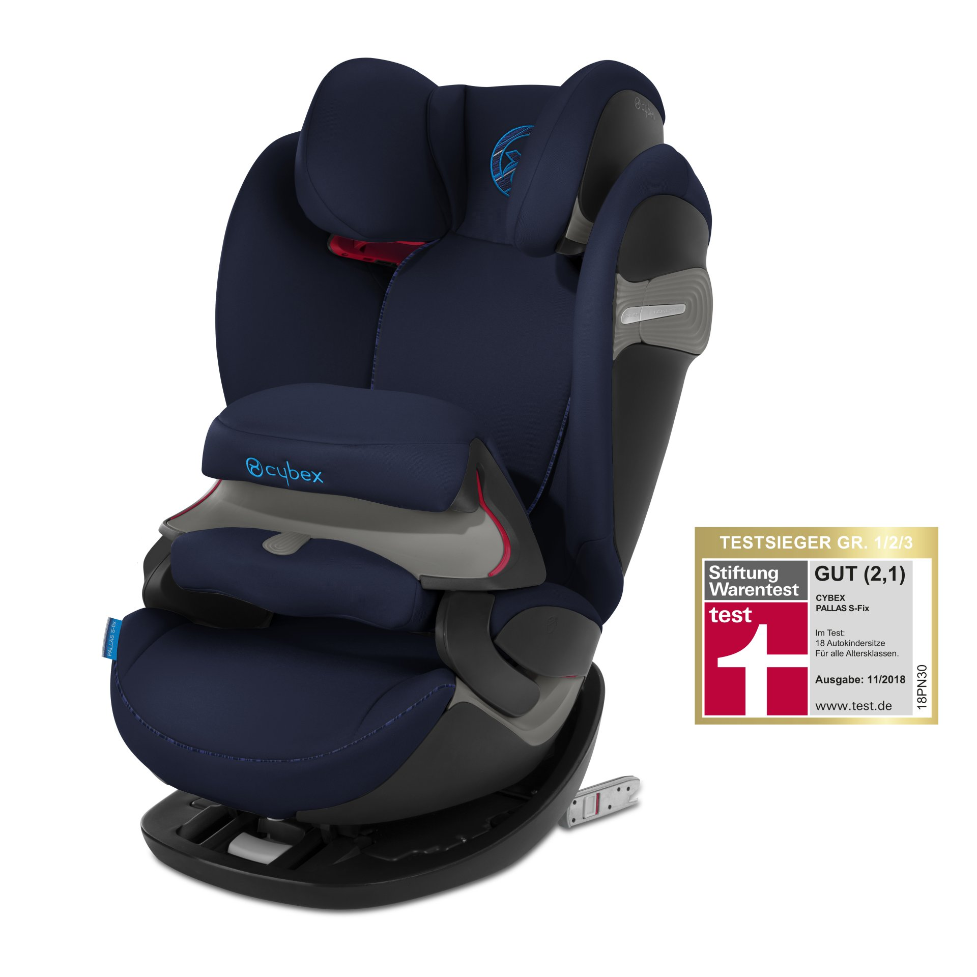 cybex child car seat pallas s fix 2019 indigo blue navy blue buy at kidsroom car seats. Black Bedroom Furniture Sets. Home Design Ideas