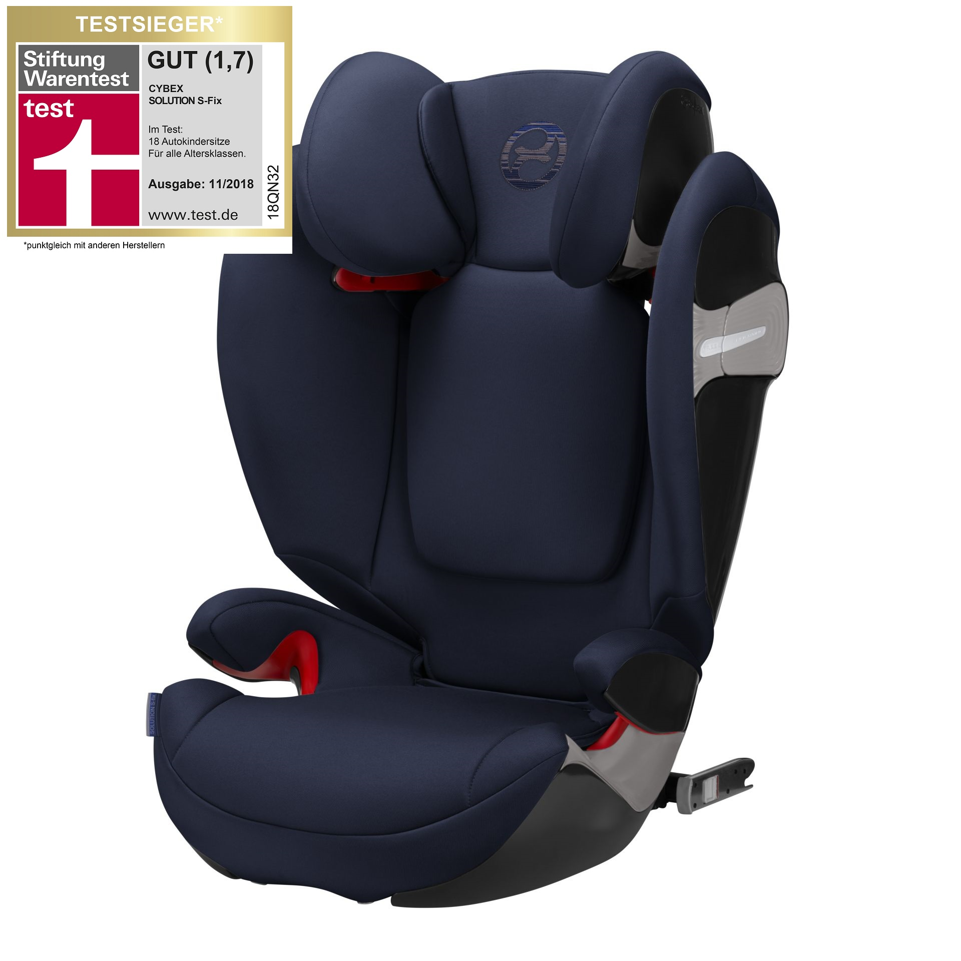 cybex child car seat solution s fix 2018 denim blue blue. Black Bedroom Furniture Sets. Home Design Ideas