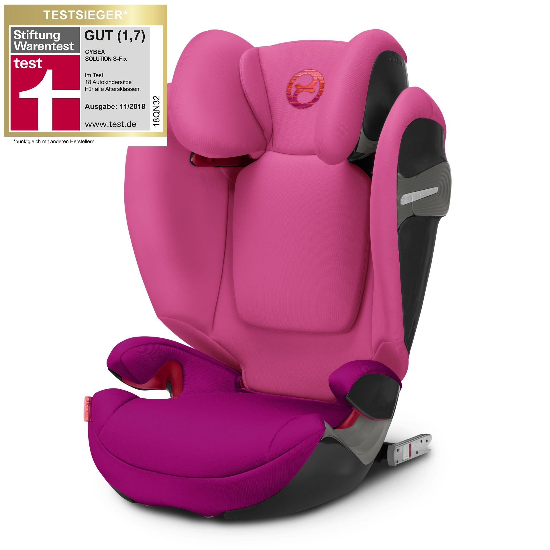 cybex child car seat solution s fix 2018 passion pink. Black Bedroom Furniture Sets. Home Design Ideas