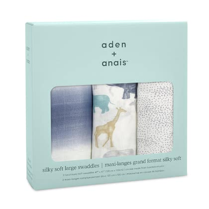 aden+anais Silky Soft Swaddles -  * The versatile swaddles by the American manufacturer aden+anais are the ideal accessory for mastering everyday life with a new-born baby – perfect for giving away, cuddling up in and changing your baby on.