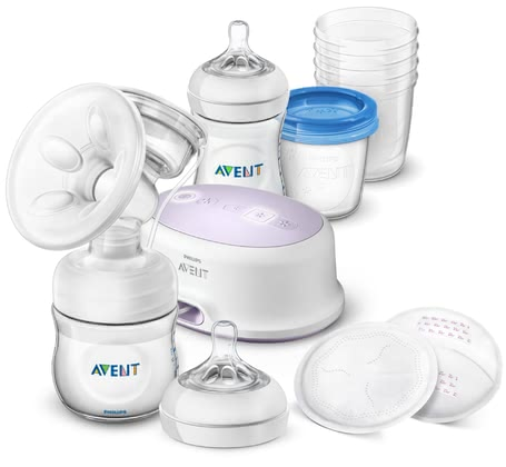 AVENT Philips Natural Breastfeeding Set with Electric Breast Pump -  * The comprehensive breastfeeding set with electric breast pump by Philips Avent supports mothers who wish to express breast milk for their little one and thus helps them ease this new and exciting stage of life.