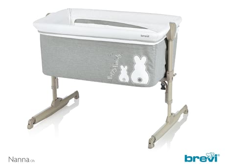 Brevi Side Bed Crib Nanna Oh -  * The Brevi Nanno Oh is the perfect 2 in 1 side bed crib and bassinet. It ensures that you can keep your little one up to a weight of 9 kg close to you at all times and wherever you are in your flat – whether that be in the bedroom or in the living area.