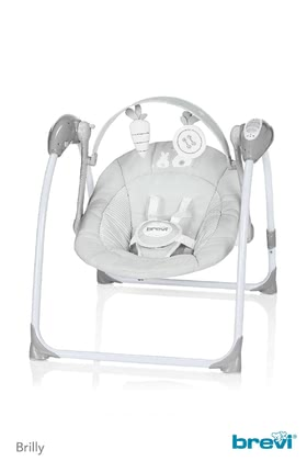 Brevi Baby Swing Brilly -  * The Brevi baby swing Brilly can be folded in an easy and quick way and is the perfect place for keeping your little one entertained at home in a small flat or else on the go. Little boys and girls from birth and up can lean back and relax or play in this comfortable seat.