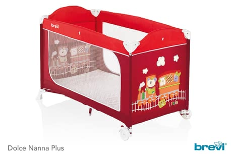 Brevi Travel Cot Dolce Nanna Plus -  * The child-oriented designs of the Brevi travel cot Dolce Nanna Plus are a real treat for the eyes. They will delight your little one instantly so that he will love going to bed.