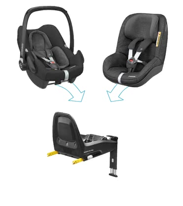 Maxi Cosi FamilyFix One i-Size Security Concept -  * Travelling in a rear-facing mode up to four years – The Maxi-Cosi FamilyFix One i-Size security concept corresponds to the latest safety standards according to the i-Size norm.