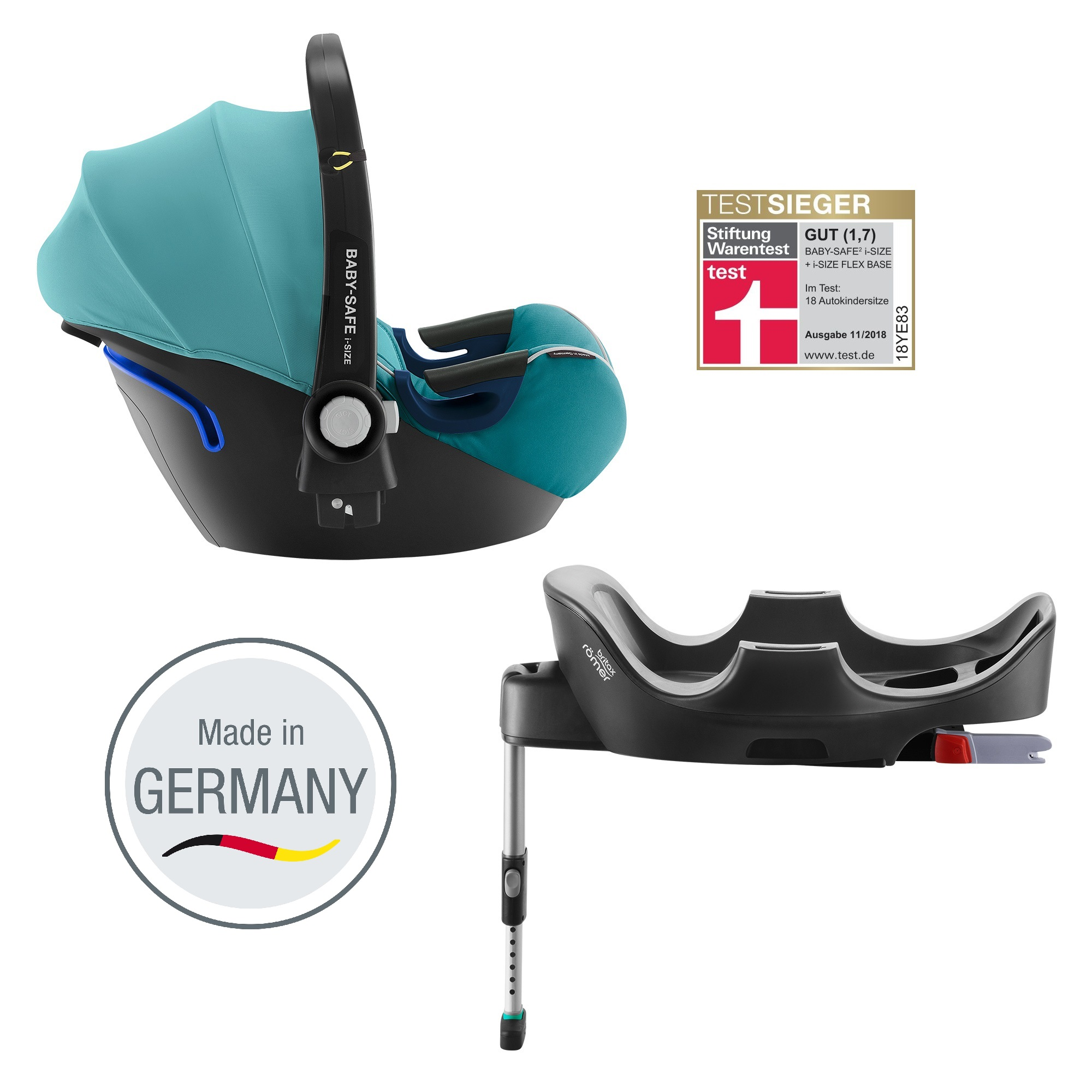 britax r mer infant car seat baby safe 2 i size including flex base 2018 lagoon green buy at. Black Bedroom Furniture Sets. Home Design Ideas