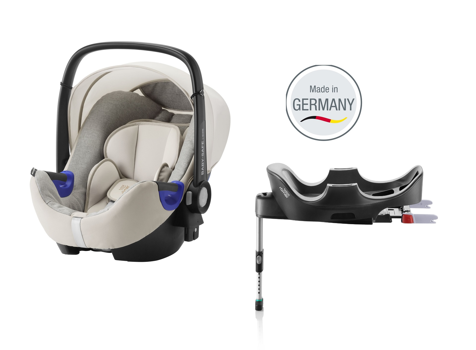 britax r mer babyschale baby safe 2 i size inkl flex base 2018 sand marble buy at kidsroom. Black Bedroom Furniture Sets. Home Design Ideas