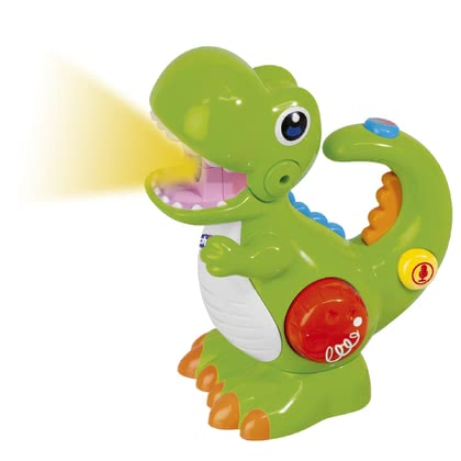 Chicco T-Rex Torch & Voice Recorder -  * The green dinosaur is the perfect toy for little explorers at the age of two years and up. Featuring lights and sounds as well as a voice recording and playback function you child will new and exciting fun every day.