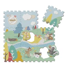Chicco Disney Bambi Jigsaw Puzzle Mat -  * The cheerful jigsaw puzzle mat by Chicco features cute Disney Bambi images that will enchant your little one immediately.