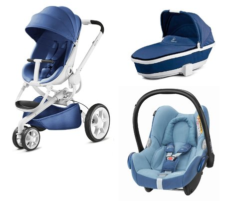 Quinny Pushchair Moodd including Dreami and Maxi-Cosi Cabriofix Blue Base-White 2018 - large image