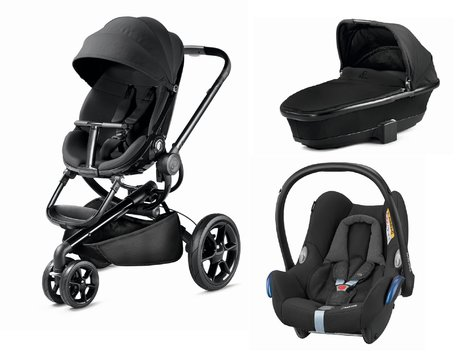 Quinny Pushchair Moodd including Dreami and Maxi-Cosi Cabriofix Black Devotion 2018 - large image
