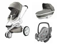 Quinny Pushchair Moodd including Dreami and Maxi-Cosi Pebble Plus -  * The Quinny Moodd Pushchair combines comfort and flexibility. It slender chassis does not only feature a trendy design, but is also suitable for being used as a travel system.