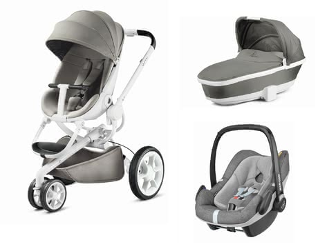 Quinny Pushchair Moodd including Dreami and Maxi-Cosi Pebble Plus Grey Gravel 2019 - large image