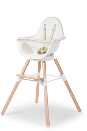Childhome High Chair Evolu ONE.80 with Rotating Seat -  * By simply turning the high chair Evolu ONE.80, you can easily change your child's perspective.