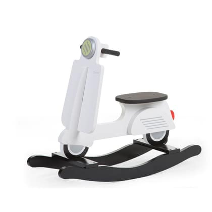Childhome Rocking Toy Scooter -  * The rocking toy Scooter by the manufacturer Childhome will delight little racers immediately. From now on there will be a touch of European atmosphere added to your little one's nursery.