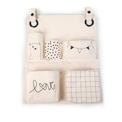 Childhome Canvas Organiser -  * Childhome's canvas organiser is both chic and super convenient. This stylish companion features five different pockets for small and big utensils alike and thus helps you keep everything neat and tidy.