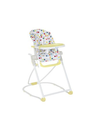 Badabulle Highchair Compact -  * Badabulle's highchair Compact can be folded and unfolded easily with only a flick of the wrist. The highlight: When folded the Compact has a particularly flat size and thus requires only half the space of a conventional chair.