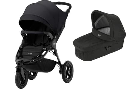 Britax Pushchair B-Motion 3 Plus including Canopy Pack and Hard Carrycot -  * This comprehensive set which consists of the Britax Römer B-Motion 3 Plus, a Canopy Pack and a hard carrycot comes in matching colours and accompanies your little one from birth up to the toddler age.