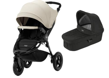 Britax Pushchair B-Motion 3 Plus including Canopy Pack and Hard Carrycot Sand Beige 2019 - large image