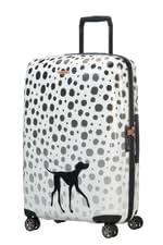"Samsonite Disney Forever Dalmatians Spinner (4 Wheels) -  * Inspired by the Disney classic ""101 Dalmatians"" this adorable 4-wheels spinner by Samsonite was created to add some exciting extravagance to your and your little one's travels. No matter which country you travel to, this eye-catching spinner will attract everybody's attention immediately."