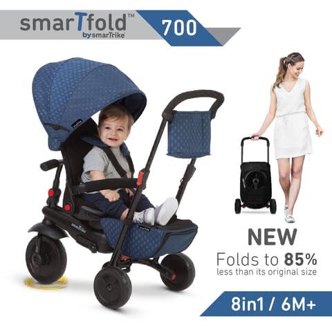Black smart trike 5500000 smarTrike Smartfold 700 Baby Tricycle