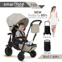 smarTrike Foldable Tricycle smarTfold 700 -  * The new foldable 8 in 1 smarTfold 700 is the revolution among the tricycles – without being bothered by time-consuming assembly and tools, you can easily switch from trolley to buggy or tricycle mode.