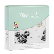 aden+anais Mickeys 90th Collection Swaddle, Single Pack -  * On the occasion of the 90th anniversary of Mickey Mouse aden+anais presents an exclusive metallic Disney collection with well-known images from the life of the world's most popular mouse.