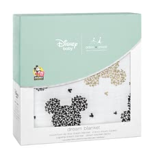 Aden + anais Mickeys 90th Collection Dream Blanket -  * On the occasion of the 90th anniversary of Mickey Mouse aden + anais presents an exclusive metallic Disney collection with popular images from the life of the world's most popular mouse.