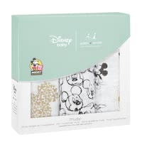 aden + anais Mickeys 90th Collection Musy Burp Cloths, 3 Pieces -  * On the occasion of the 90th anniversary of Mickey Mouse aden + anais presents an exclusive metallic Disney collection with popular images from the life of the world's most popular mouse.