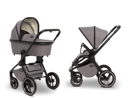 Moon Multi-Functional Stroller ReSea including Carrycot -  * Being mobile from the very first day of life – the stylish ReSea that comes with a carrycot for newborn babies and can later be used as an agile pushchair with seat unit accompanies you and your little one for a very long time.