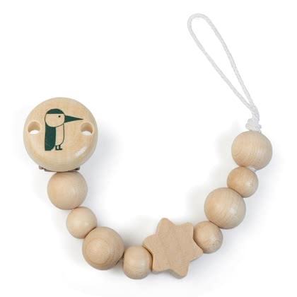 Grünspecht Wooden Soother Chain -  * No more rummaging in your bag or in the pram – this beautiful natural wooden soother chain keeps the soother, teething, rattle or orris root of your child safe and easy to reach.