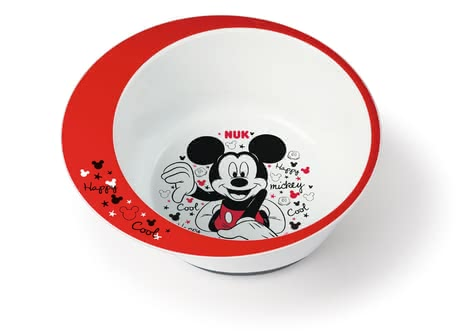 NUK Disney Mickey Learner Bowl -  * The new NUK learner bowls do not only meet the needs of small gourmets but are great eye-catchers on every dining table, too.