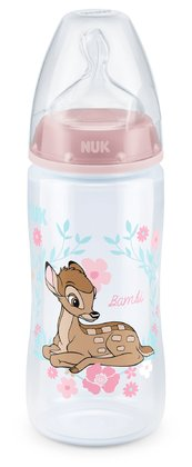 NUK Disney Classics FIRST CHOICE Baby Bottle – Limited Edition -  * The product world of NUK is now enchanted by the adorable Disney characters Bambi and Dumbo that come in a limited edition. The clumsy fawn and the faithful elephant with the big ears will soon become your child's most favourite companion.