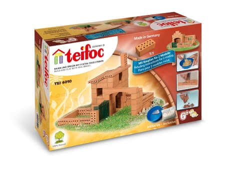 Teifoc Brick Building Set House -  * This amazing set will make little builders beam with joy. This brick building set by teifoc comes with two construction manuals so that you and your child are provided with 2 different building versions in only one set.