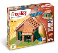 teifoc Brick Building Set House with Tiled Roof -  * Build either a small house with garage or a large house with an integrated garage. Thanks to the 2 construction manuals, your child can build amazing buildings with you.
