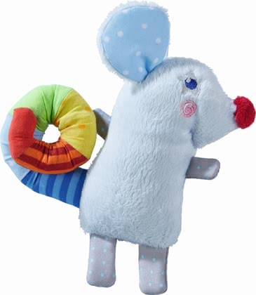 Haba Toy Pendant Rainbow Mouse -  * Haba's toy pendant is going to be your child's new cuddly companion for every day – whether that be on the infant car seat or on the cot at home.