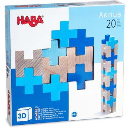 Haba 3D Pegging Game -  * The 3D pegging games provide fun for young and old alike. There are no limits to creativity, because there are innumerable variations on how the block can be arranged. Different colours featured in each game add great effects.