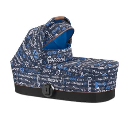 Cybex Gold Values for Life Carrycot Cot S -  * The new Fashion Edition Values for Life presents itself as lively and individual as our children! Inspired by the latest design trends, this edition comes in an elaborate design that features the cult colours blue, red, green and black. The Cybex carrycot S is the perfect bed when being out and about with your little one in his first months of life.