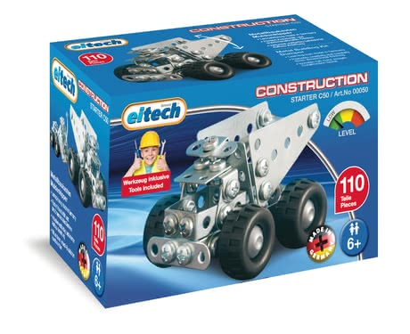 eitech Metal Building Kit Dumper -  * With this super cool metal building kit, your little builder will get the construction-site-feeling home into his/ her nursery.