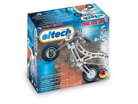 eitech Metal Building Kit Trial Bike -  * The Metal Building Kit Trial Bike is particularly suitable for beginners since the construction is not too complex but still compact and robust.