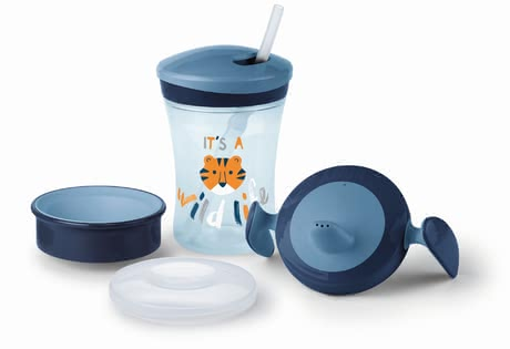 NUK Learn to Drink Set -  * Drinking independently from a cup is an important step in the development of your baby. This is not only a real challenge but also requires patience and skill.