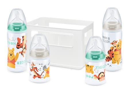 NUK Disney Winnie the Pooh First Choice+ Starter Set -  * With the high-quality Winnie the Pooh First Choice + Starter Set by NUK, new parents are provided with a super practical starter set perfect for a trouble-free start with their baby.